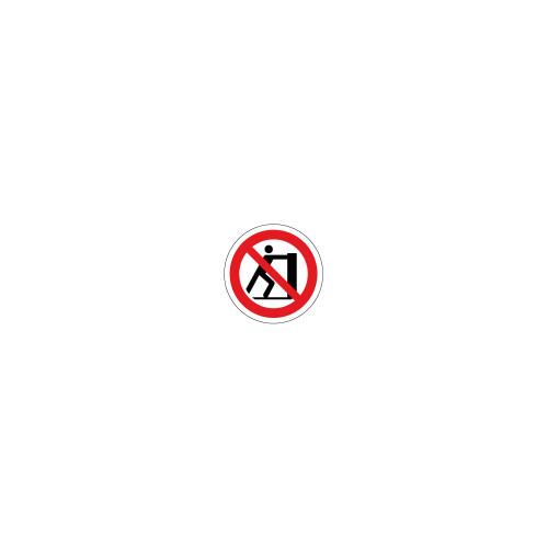 Pushing Prohibited Label (C24782-01)