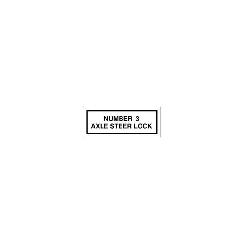 Number 3 / Axle Steer Lock Label (8163-05HP-C4)