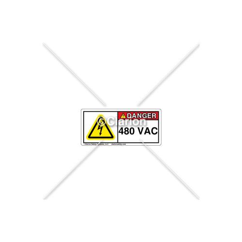 Danger/480 VAC Label (6701771)