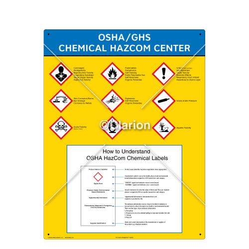 GHS Center/English/No Binder/Vertical Label (GHSCENTER-02)