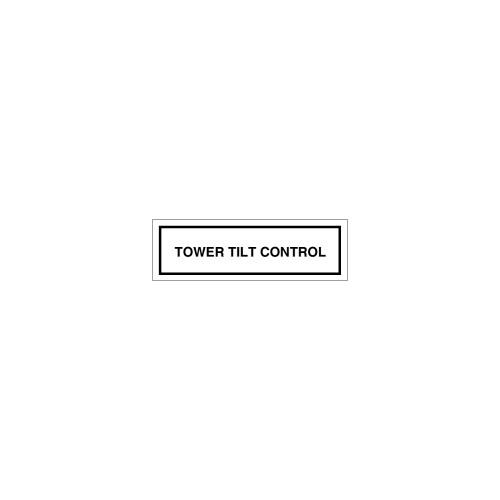 Tower Tilt Control Label (8163-07HP-E4)