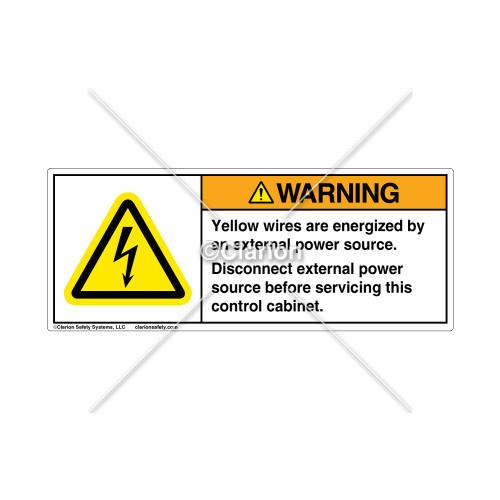 Warning/External Power Source Label (9060-01WHPG)