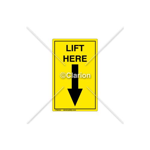 Lift Here Label (C8608-05)