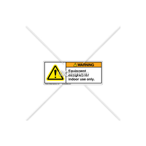 Warning/Equipment Indoor Only Label (H6014-G21WHPI)