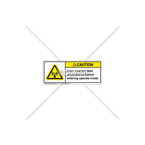 Caution/Clear Antenna Field Label (H6027-E01CHPI)