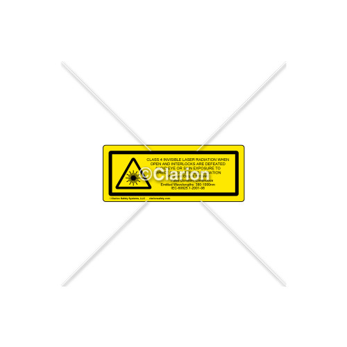 Caution/Class 4 invisible Label (C1677-02)