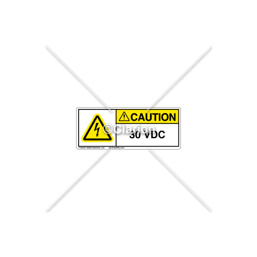 Caution/30 VDC Label (C16787-01)