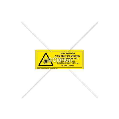 Laser Radiation Class 3R Label (8693-03HPI)