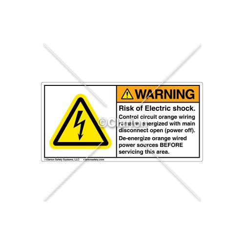 Warning/Risk of Electrical Shock Label (C15924-01)