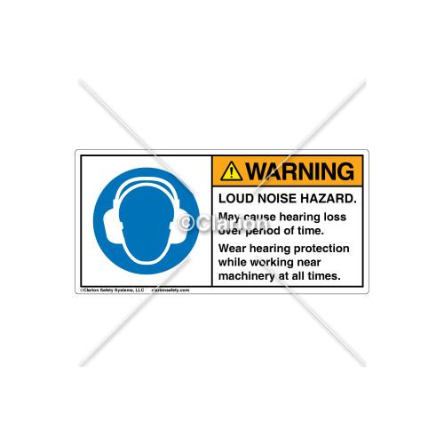 Warning/Loud Noise Hazard Label (C18717-12)