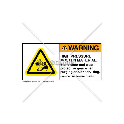 Warning/High Pressure Molten Label (C21699-01)