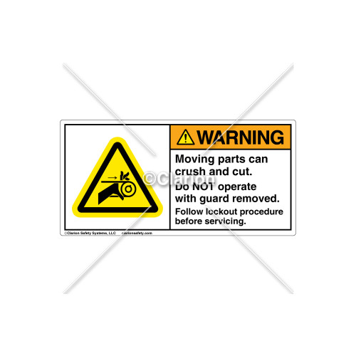 Warning/Do Not Operate Label (C8400-08)