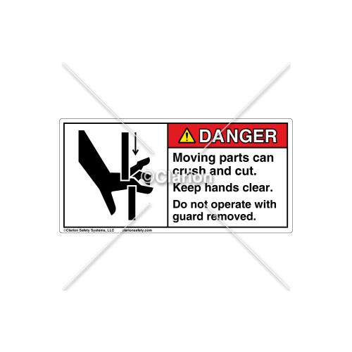 Danger/Moving Parts Can Label (C4208-01)