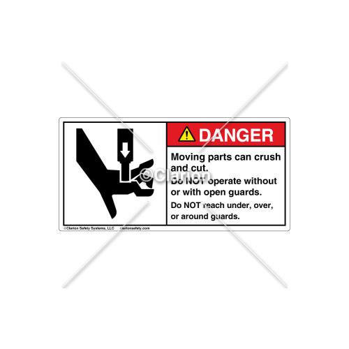 Danger/Moving Parts Label (1161-F76DHPJ)