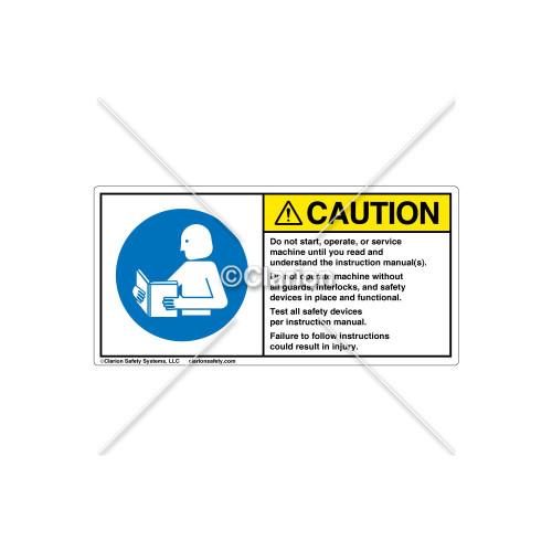 Caution/Do Not Start Label (314604)