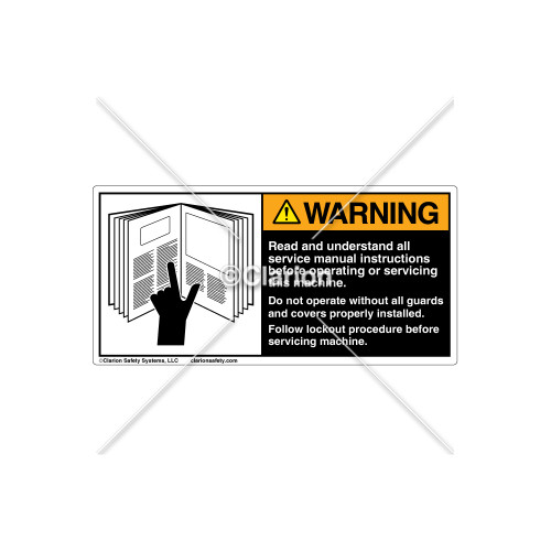 Warning/Read and Understand Label (6001-GPWHPJ Blk)