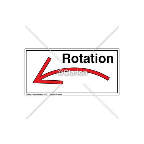 Curved Arrow/Left Rotation Label (7804A-04HBJ)