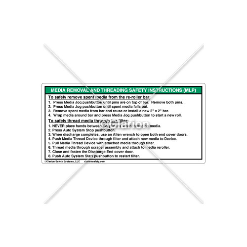 Media Removal And Threading Label (532-6021)