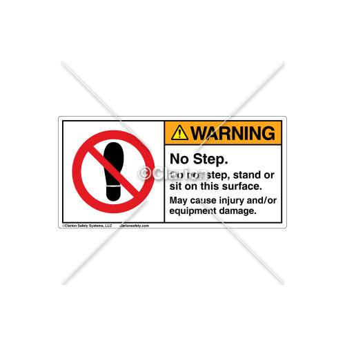 Warning/No Step Label (030-1100)