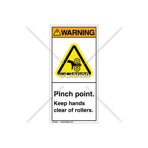 Warning/Pinch point Label (H1018-PXWVPJ)