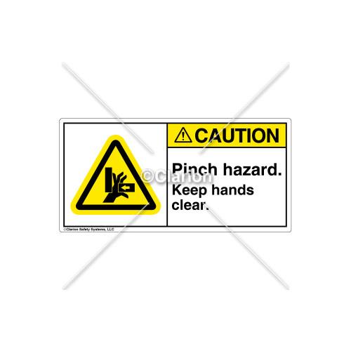 Caution/Pinch Hazard Label (H1042-TDCHPJ)