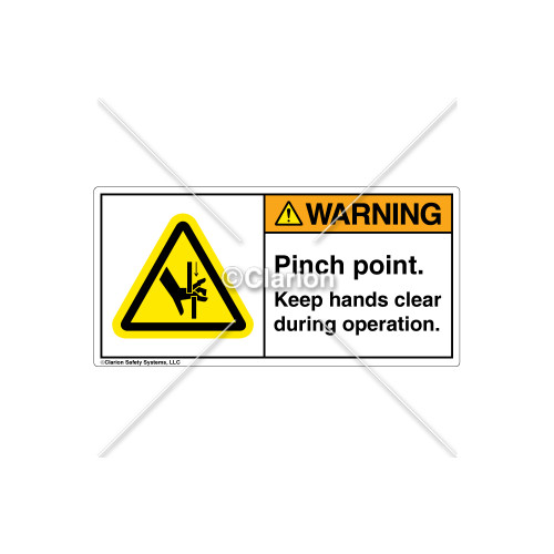 Warning/Pinch Point Label (H1099-58WHPJ)