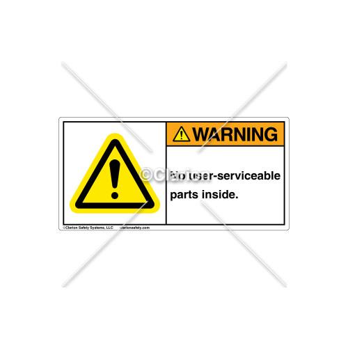 Warning/No User Serviceable Part Label (H6014-U28WHPJ)