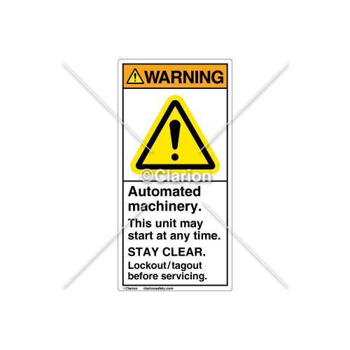 Warning/Automated Machinery Label (H6014-GCWVPJ)