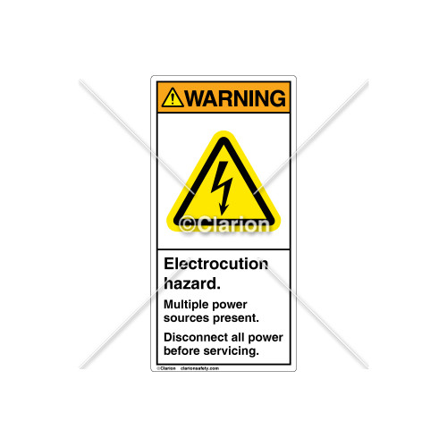 Warning/Multiple Input Sources Label (H6010-W60WVPJ)