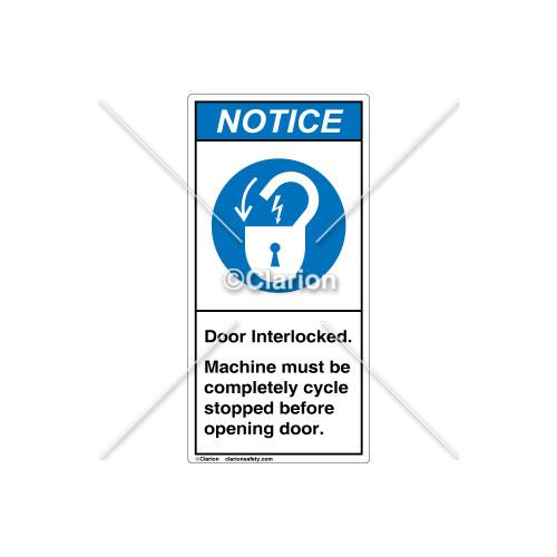 Notice/Door Interlocked Label (H6011-W63NVPJ)