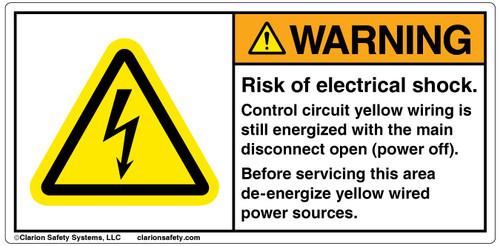 Warning/Risk of Electric Shock Label (H6010-B47WHPJ)