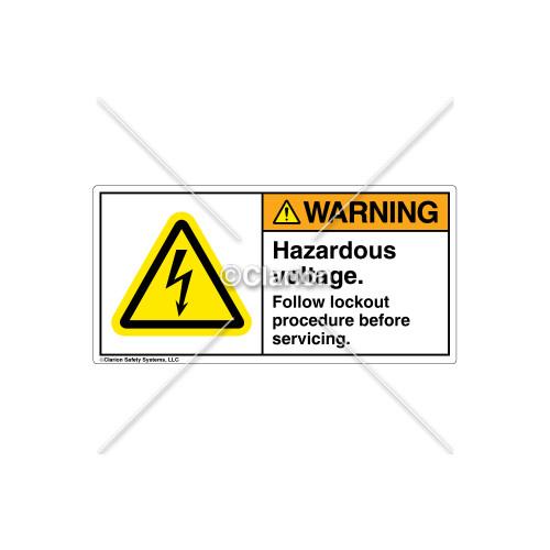 Warning/Hazardous Voltage Label (H6010-19WHPJ)
