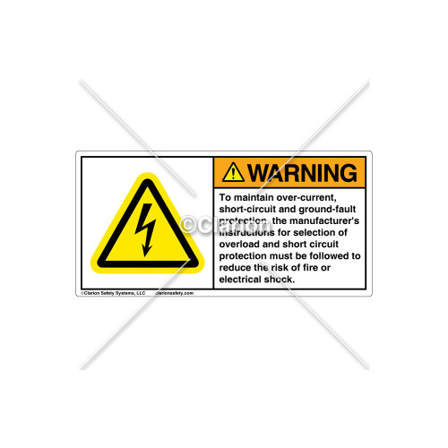 Warning/To Maintain Over-Current Sign (WT010-081)