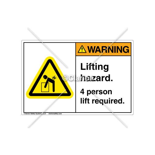 Warning/Lifting Hazard Label (C3235-01)