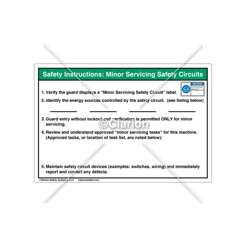 Safety Instructions/Verify the Guard Label (8520-02H2-J3)