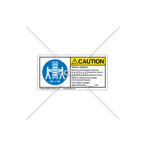 Caution/Heavy Object Label (8751-02CH2K)