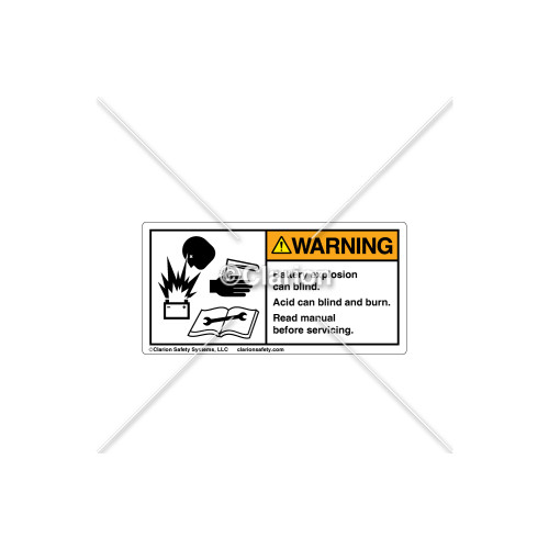 Warning/Battery Explosion Label (8900-05WHBK)