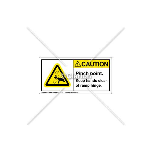 Caution/Pinch Point Label (8906-07CHPK)