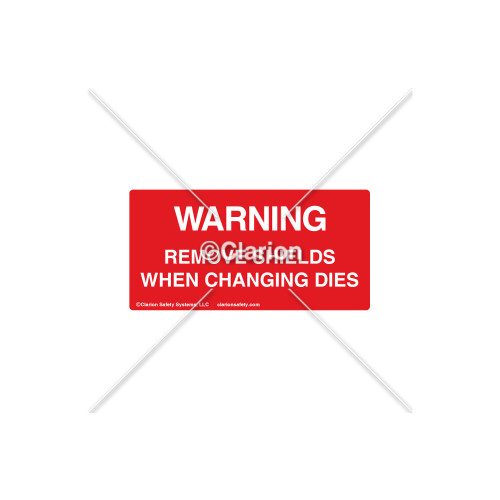 Warning/Remove Shields Label (8420-01WHPK)