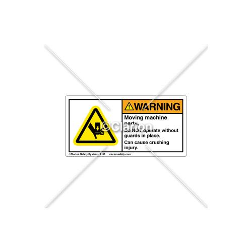 Warning/Moving Machine Parts Label (C25054-03)