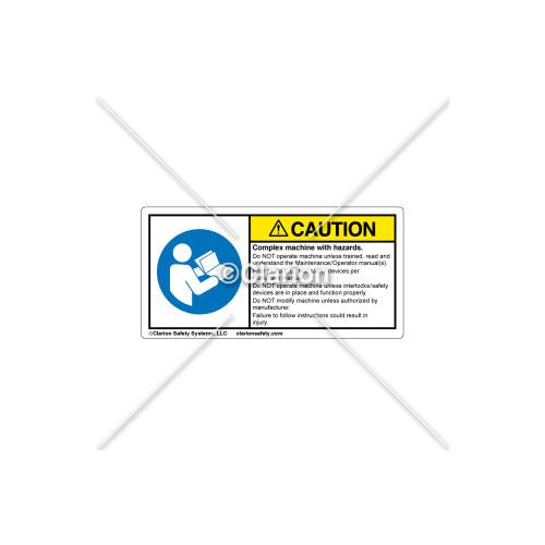 Caution/Complex Machine Label (C25054-06)