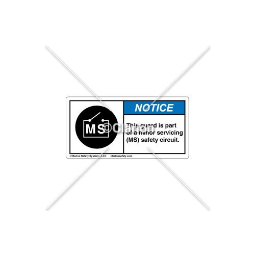Notice/This Guard is Part Label (C18610-01)