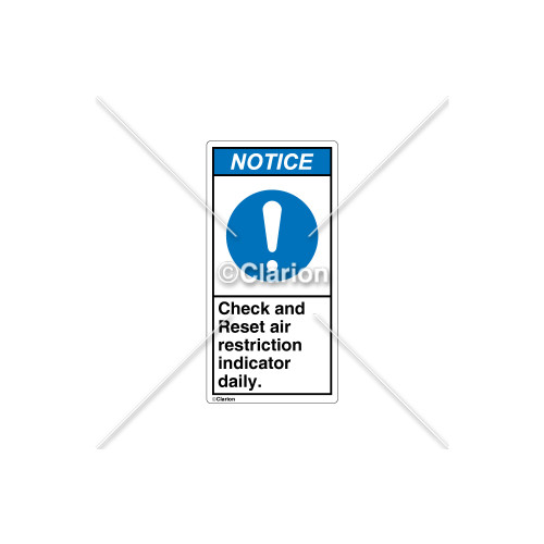 Notice/Check and Reset Label (C21424-03)