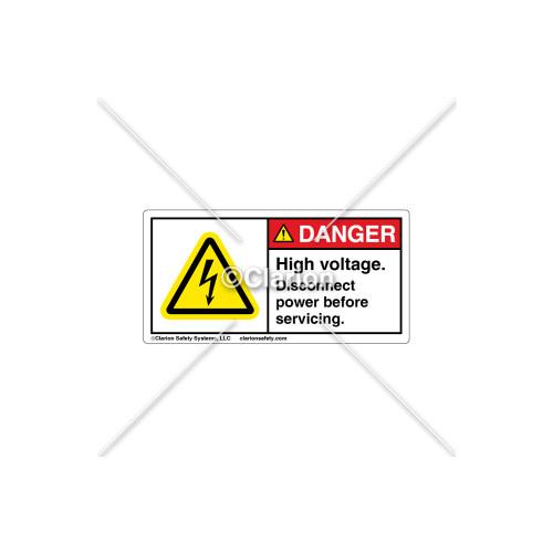 Danger/High Voltage Label (C16305-02)