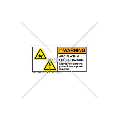 Warning/Arc Flash Label (C16305-03)