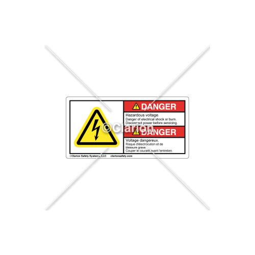 Danger/Hazardous Voltage Label (BFC-H6010-PPDHPK)
