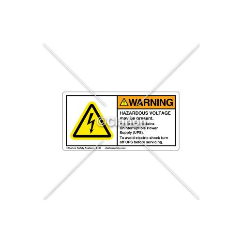 Warning/Hazardous Voltage Label (C11305-04)