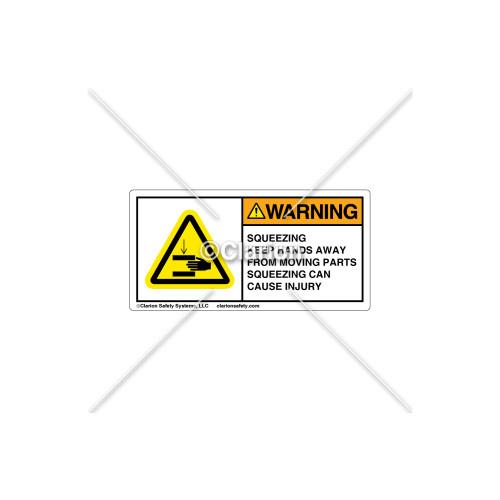 Warning/Squeezing Label (C5603-01)