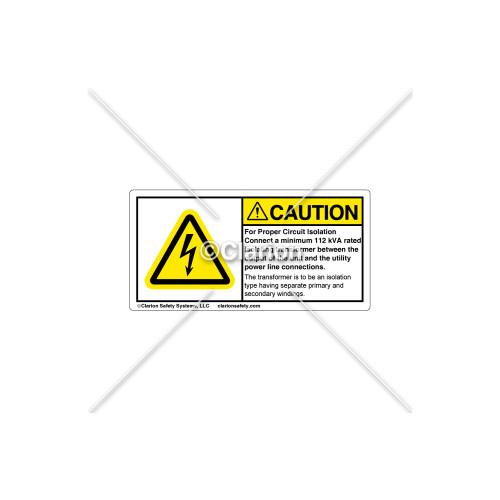 Caution/For Proper Circuit Label (C5758-16)