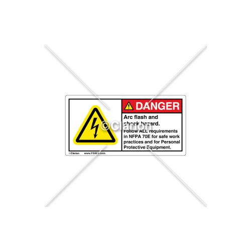 Danger/Arc Flash Label (109752)
